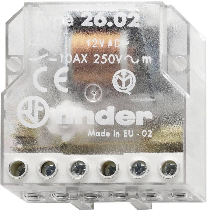 Impulzný spínač Finder 26.02.8.024.0000, 2 spínacie, 24 V/AC, 10 A, 2500 VA