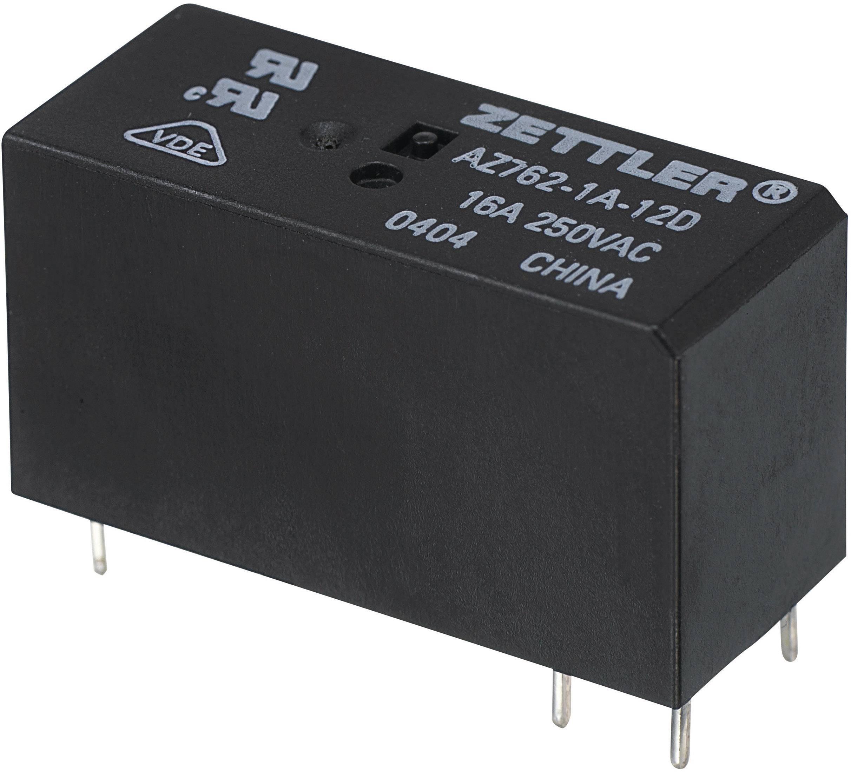 Miniaturní výkonové relé AZ762, 16 A 6 V/DC 1 spínací kontakt Zettler Electronics AZ762-1A-6DE 1 ks