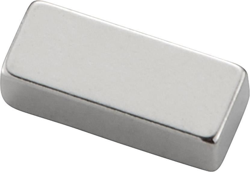 Permanentní magnet tyčový (d x š x v) 20 x 10 x 4 mm, N35