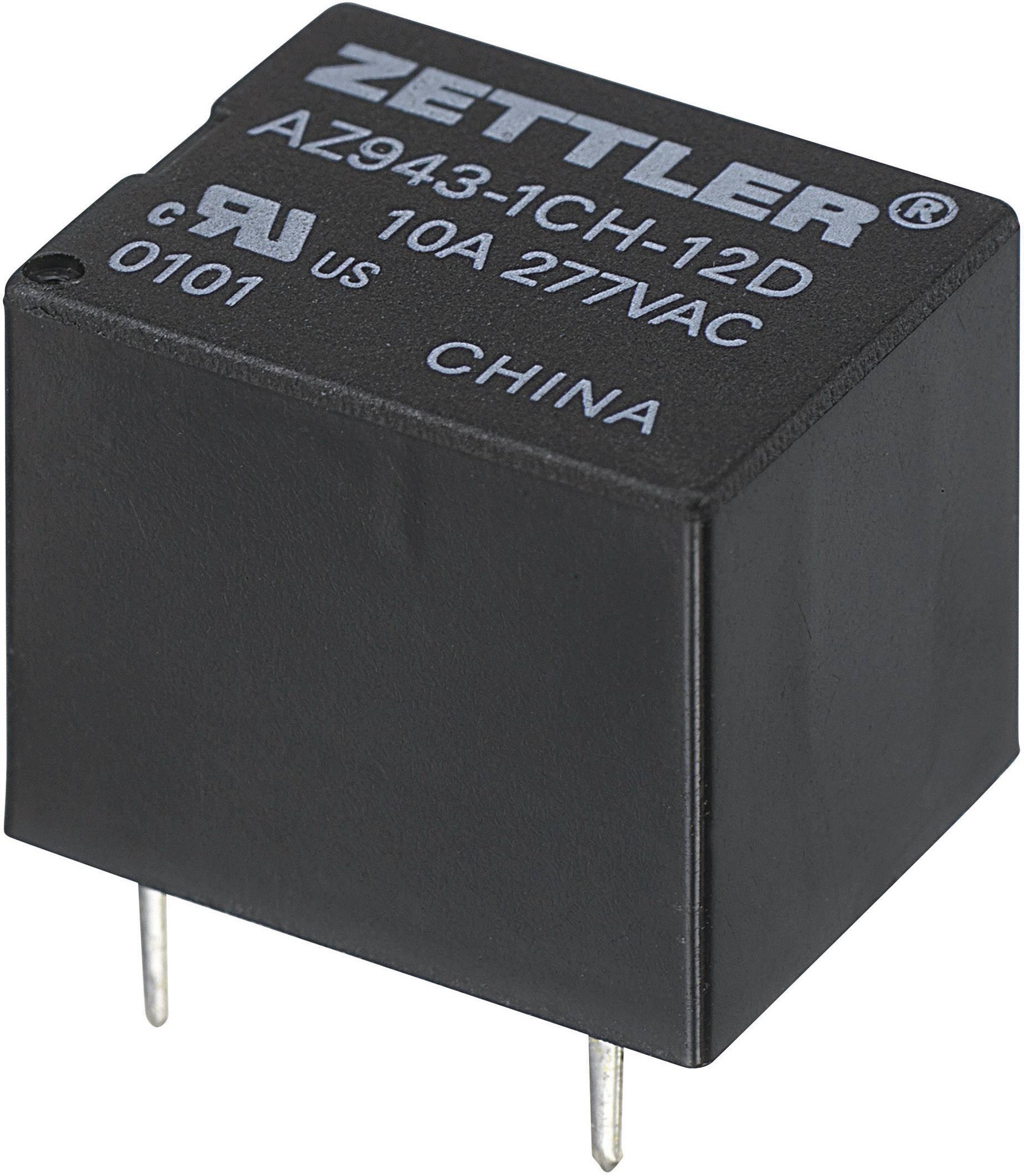 Miniaturní Print relé 15 A Zettler Electronics AZ943-1CH-6DE, 15 A , 30 V/DC/300 V/AC , 2770 VA/210 W
