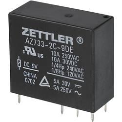 Miniaturní výkonové relé 24 V/DC 10 A Zettler Electronics AZ733-2C-24DE