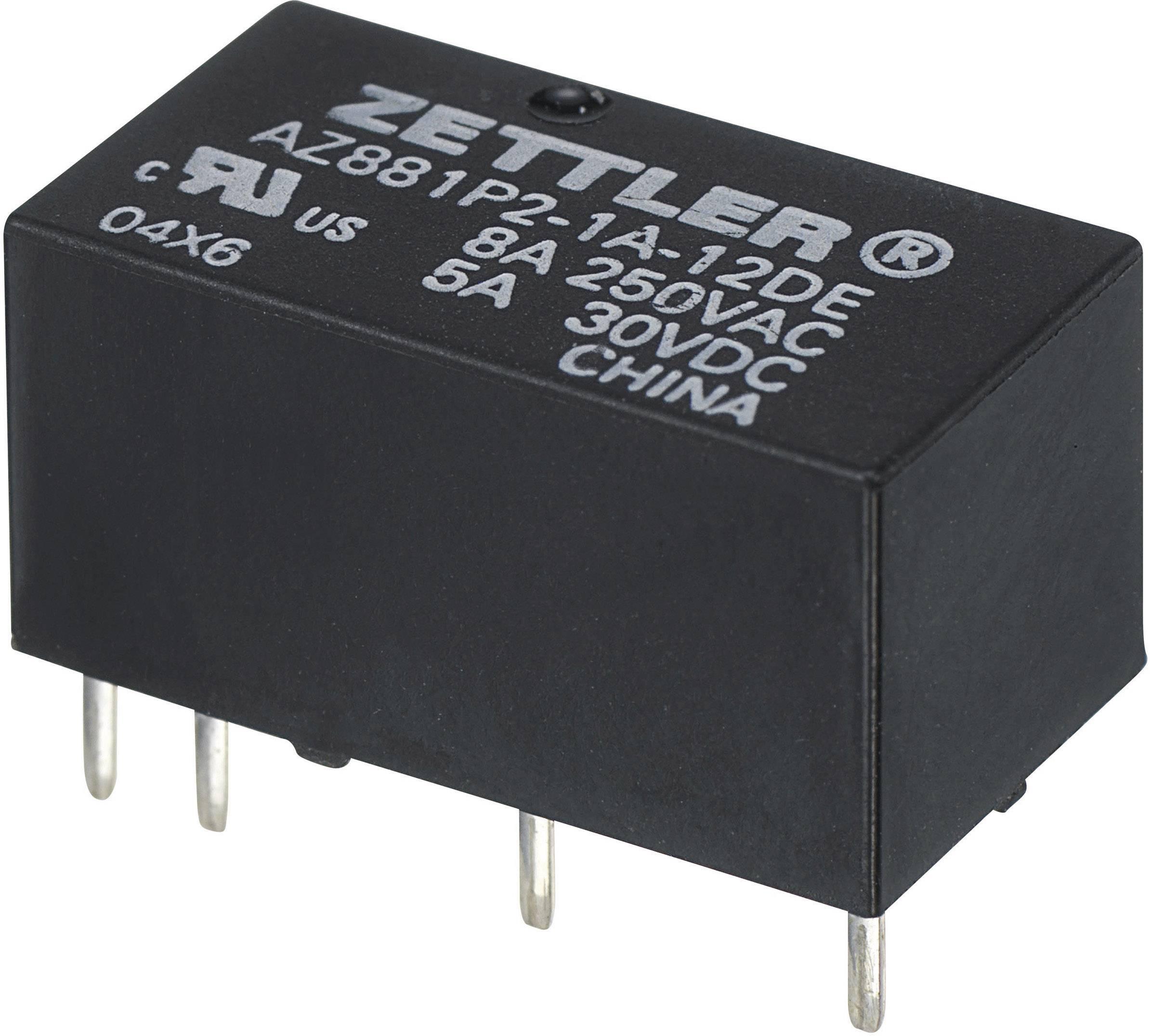 Subminiaturní výkonné relé AZ881, monostabilní, 5 A Zettler Electronics 9 V/DC 1 ks