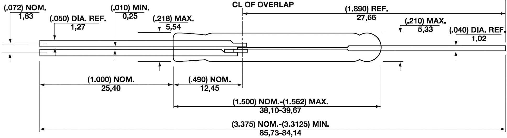 Jazýčkový kontakt Hamlin DRR-DTH, 500 V/DC, 30 W, 0,5 A