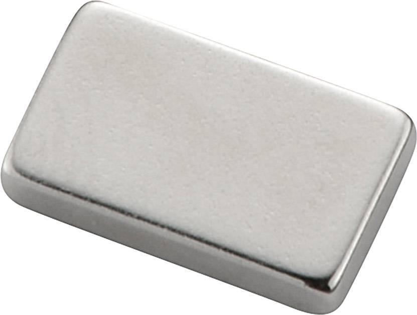 Magnet neodymový N-38SH, 2x25x6 mm, poniklovaný