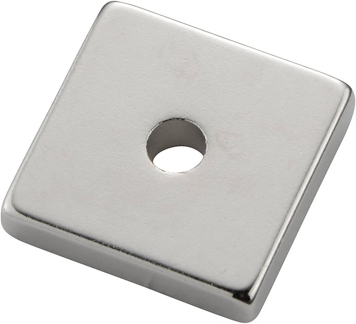 Permanentný magnet pravouhlý (d x š x v) 20 x 19 x 4 mm, N35M