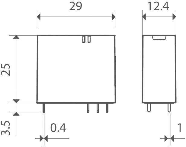 Print relé Finder 40.31.7.012.1320, 12 A, 3,5 mm, 400 V/AC (AC1) 3000 VA