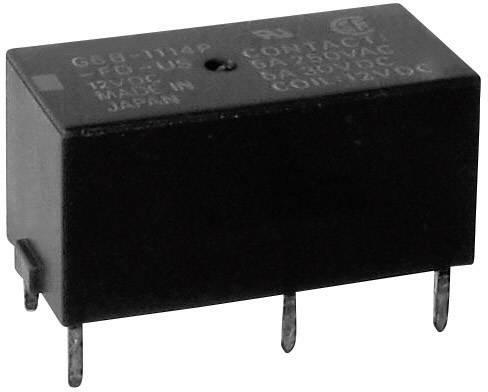 Relé do DPS Omron G6B-2214P-US 12 VDC, 12 V/DC, 5 A, 2 spínací kontakty, 1 ks