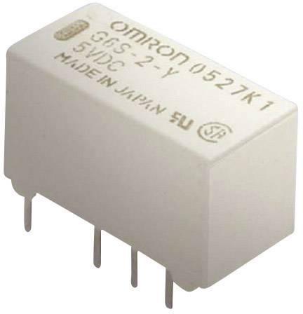 Tenké Signal relé Omron, G6S-2 5 VDC, cca 140 mW, 2 A, 2 A , 220 V/DC/250 V/AC 125 V/AC/0,5 A/30 V/DC/2 A, 62,5 VA/60 W