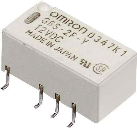 Relé do DPS Omron G6S-2F 12 VDC, 12 V/DC, 2 A, 2 přepínací kontakty, 1 ks