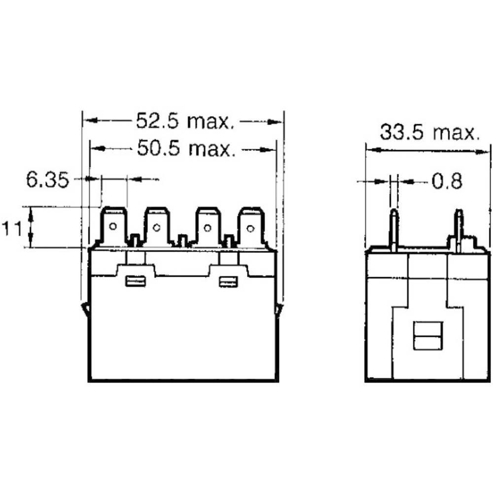 Vysokovýkonné relé Omron, G7L-2A-T 24 VAC, 25 A, 25 A
