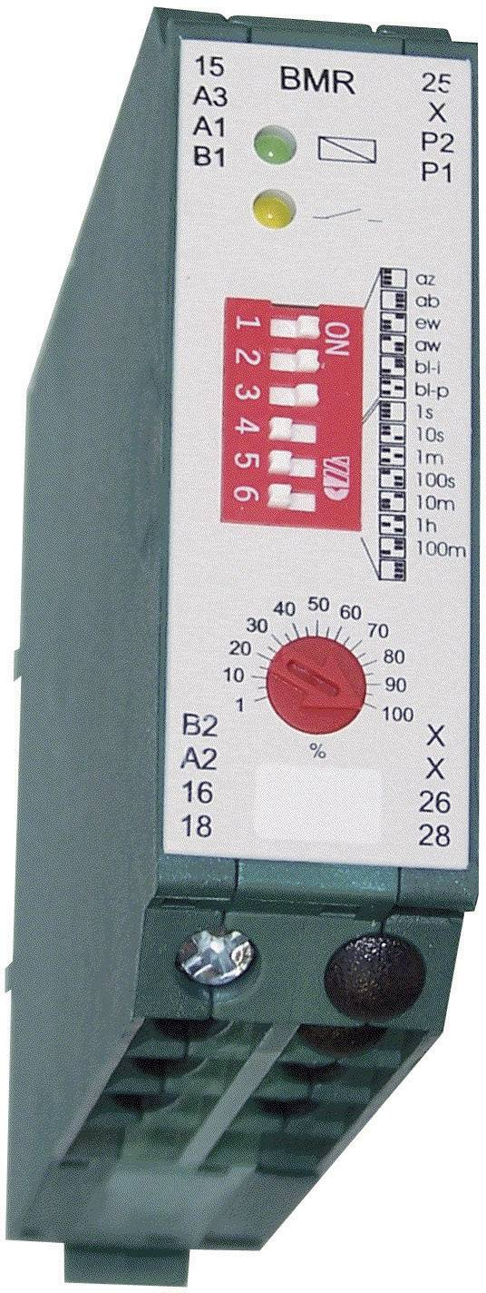 Časové relé multifunkční HSB Industrieelektronik BMRF, čas.rozsah: 0.01 s - 10 h, 2 přepínací kontakty, 1 ks