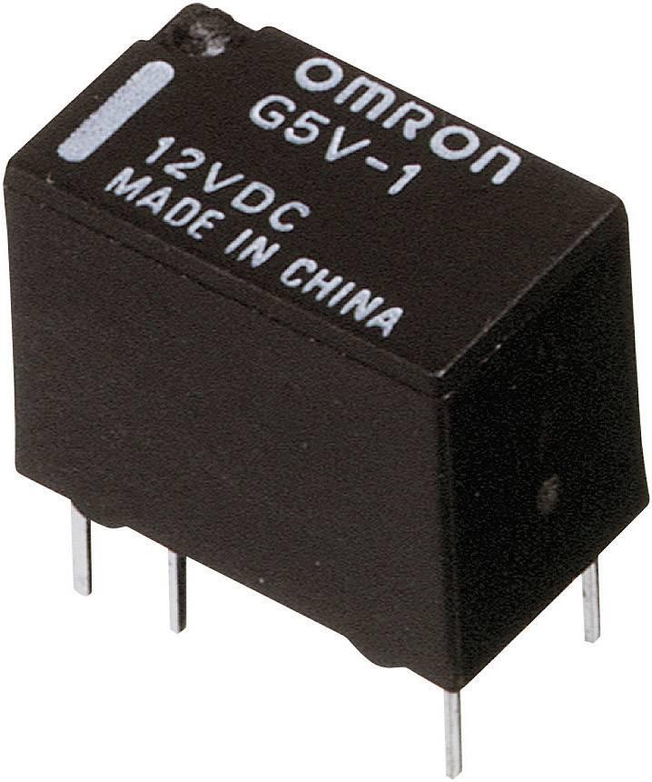 Signálové relé G5V PCB-1, 1 A ,1 přepínací kontakt Omron G5V-1 12DC, 1 A , 60 V/DC/125 V/AC , 62,5 VA/30 W