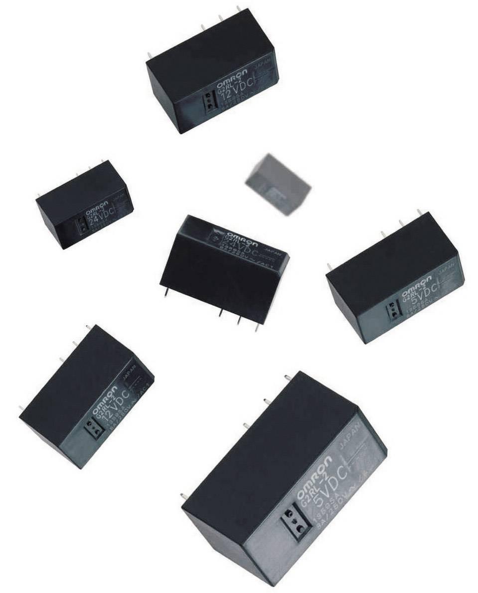 Relé do DPS Omron G2RL-2 12V, 12 V/DC, 8 A, 2 prepínacie, 1 ks