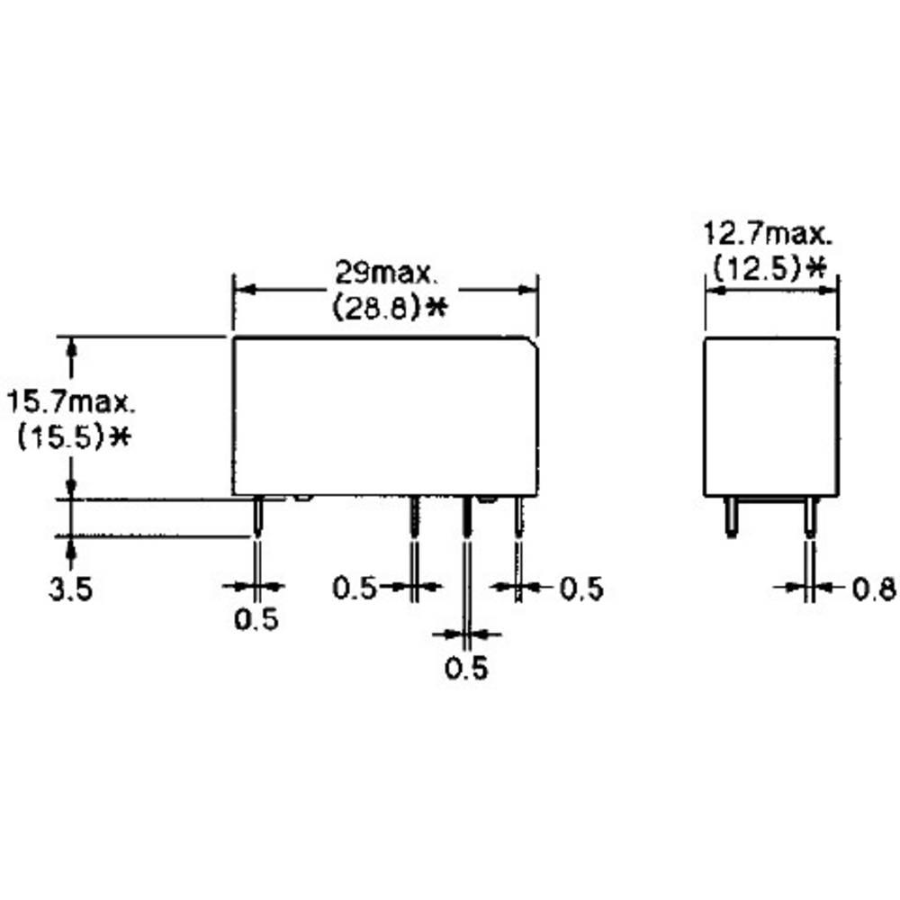 Power relé do DPS Omron G2RL-1-E 12V, 16 A, 300 V/DC/440 V