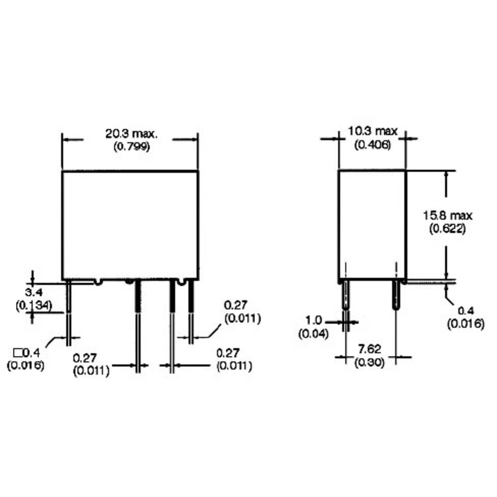 Kompaktní PCB Power relé Omron G5Q-1-EU 12DC, 12 V/DC, 5 A