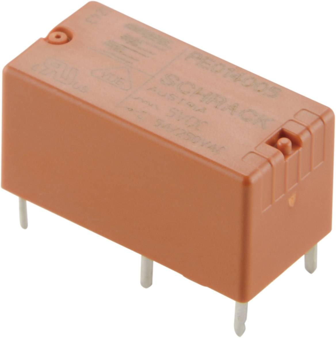 Výkonové relé PE 5 A, 1 x přepínací kontakt TE Connectivity 1-1415390-1, PE014F05, 5 A, 440 V/AC 750/1250 VA