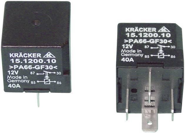 Automobilové relé Kräcker 15.1200.10, 12 V, 40 A, spínací relé