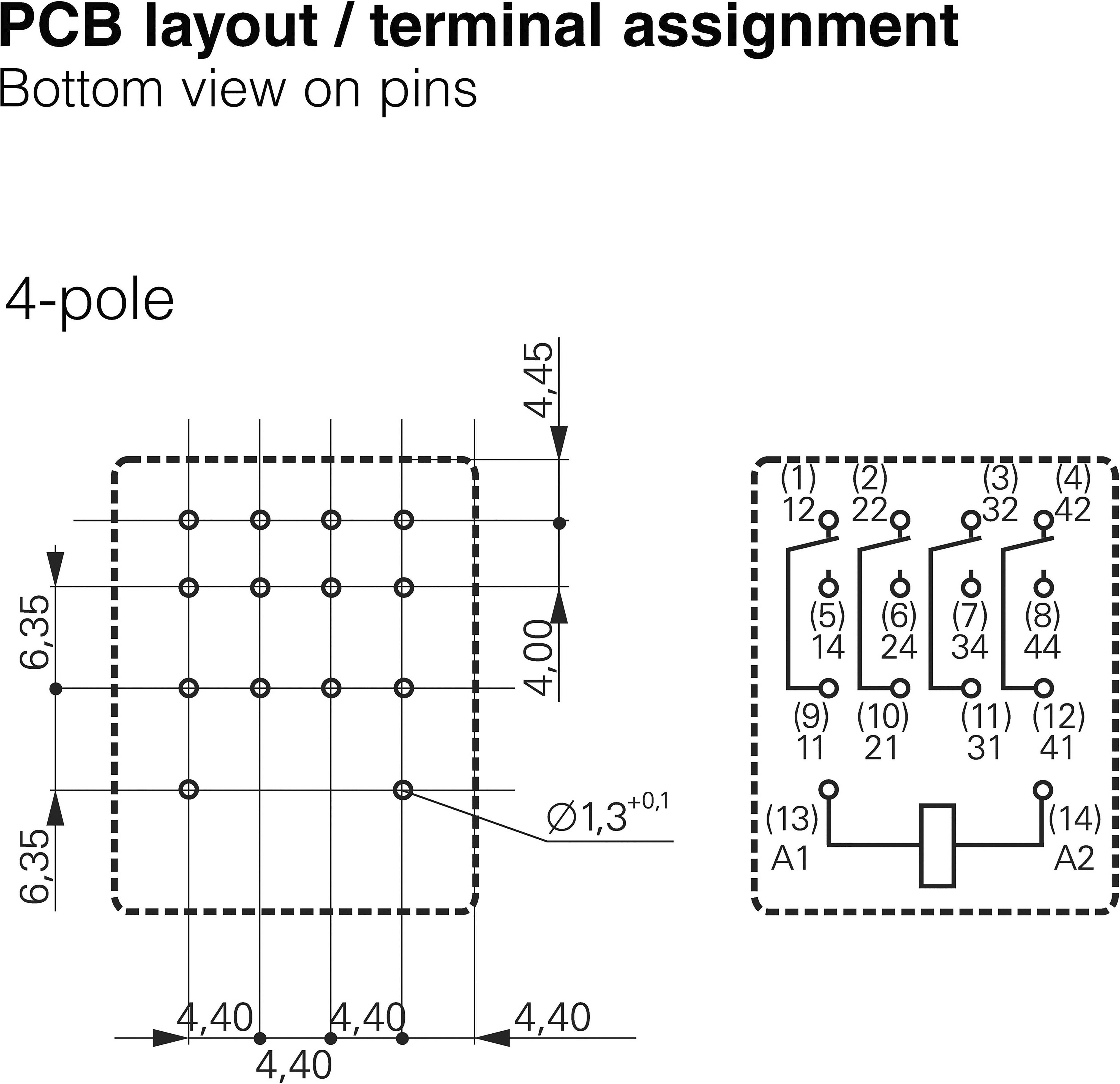 Miniaturní relé PT TE Connectivity 8-1419111-0, PT570012, 6 A, 440 V/AC 1500 VA
