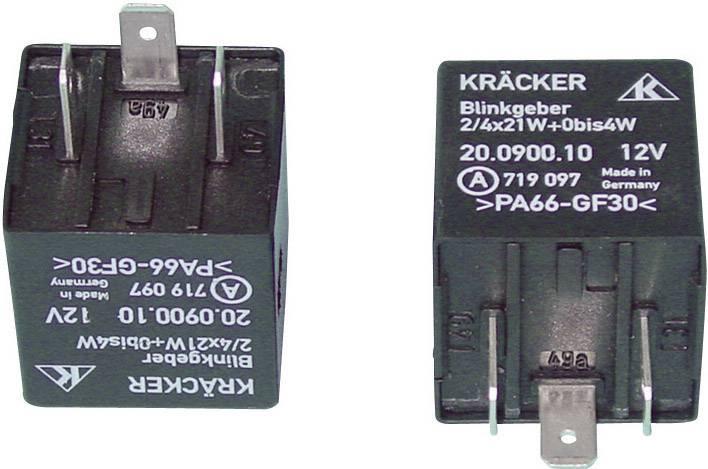 Automobilové relé Kräcker 20.0900.10, 12 V, 20 A, varovný blinkr