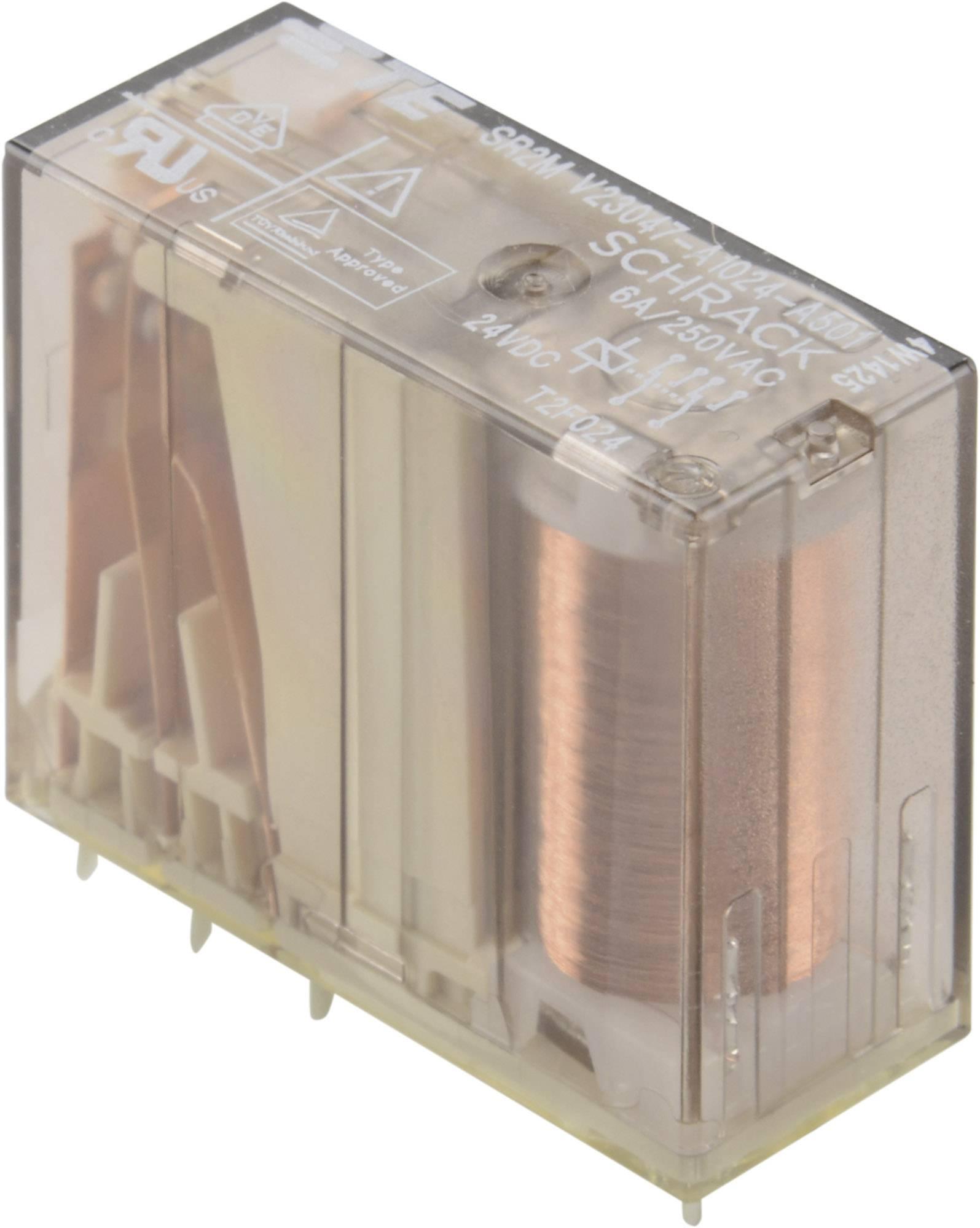 Bezpečnostní relé SR2M 6 A, 2pólové TE Connectivity 1-1393258-5, V23047-A1024-A501, 6 A