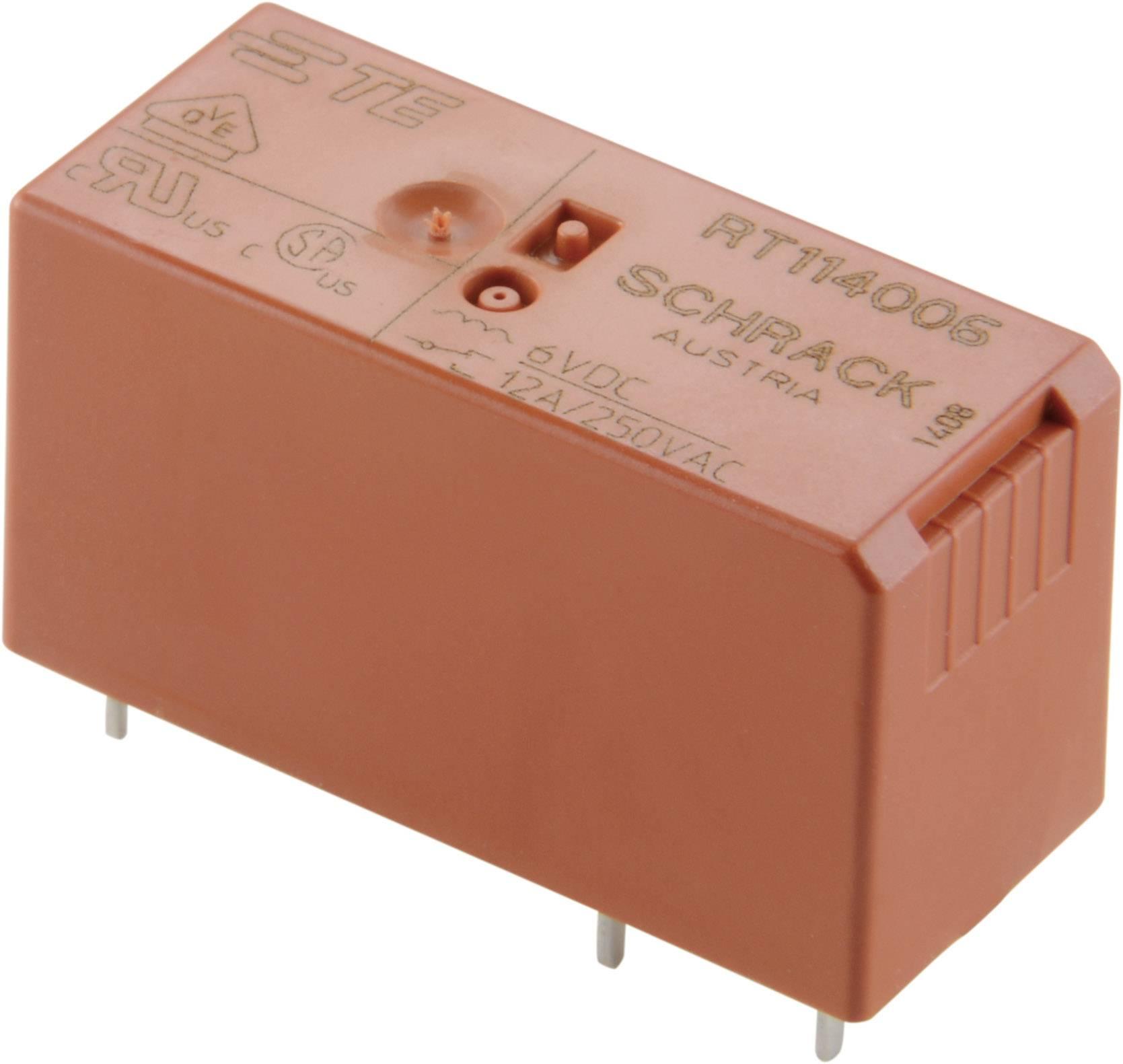 Relé do DPS TE Connectivity 6-1393243-3, 12 V/DC, 8 A, 2 prepínacie, 1 ks