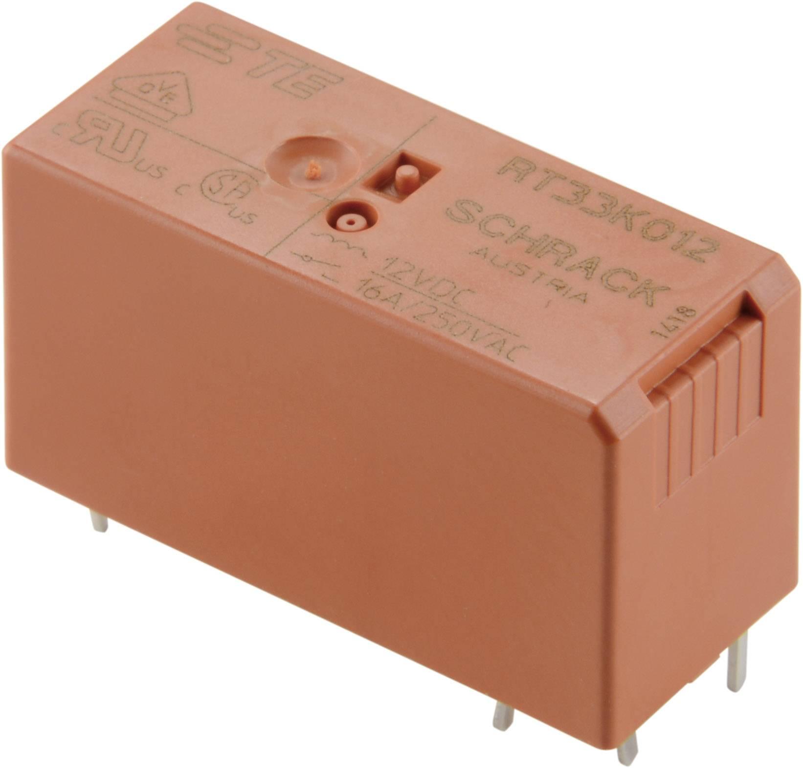 Relé do DPS TE Connectivity 2-1393240-3, 12 V/DC, 16 A, 1 spínací, 1 ks