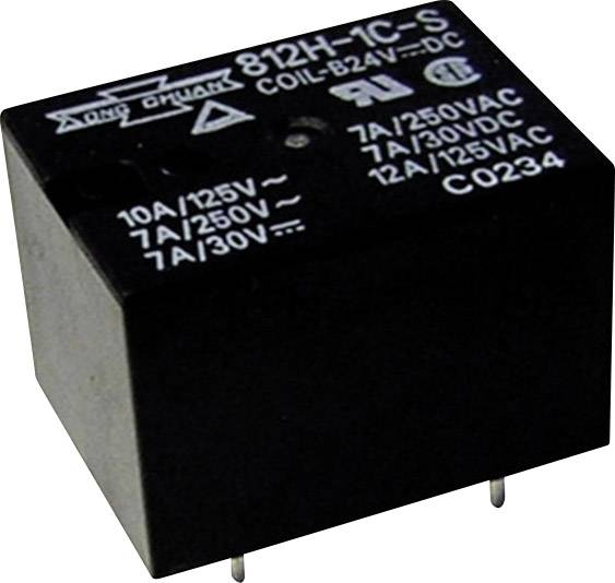 Miniaturní výkonové relé 812H 12 A, 1 přepínací kontakt Song Chuan 812H-1CCEF 12, 12 A, (85/105 °