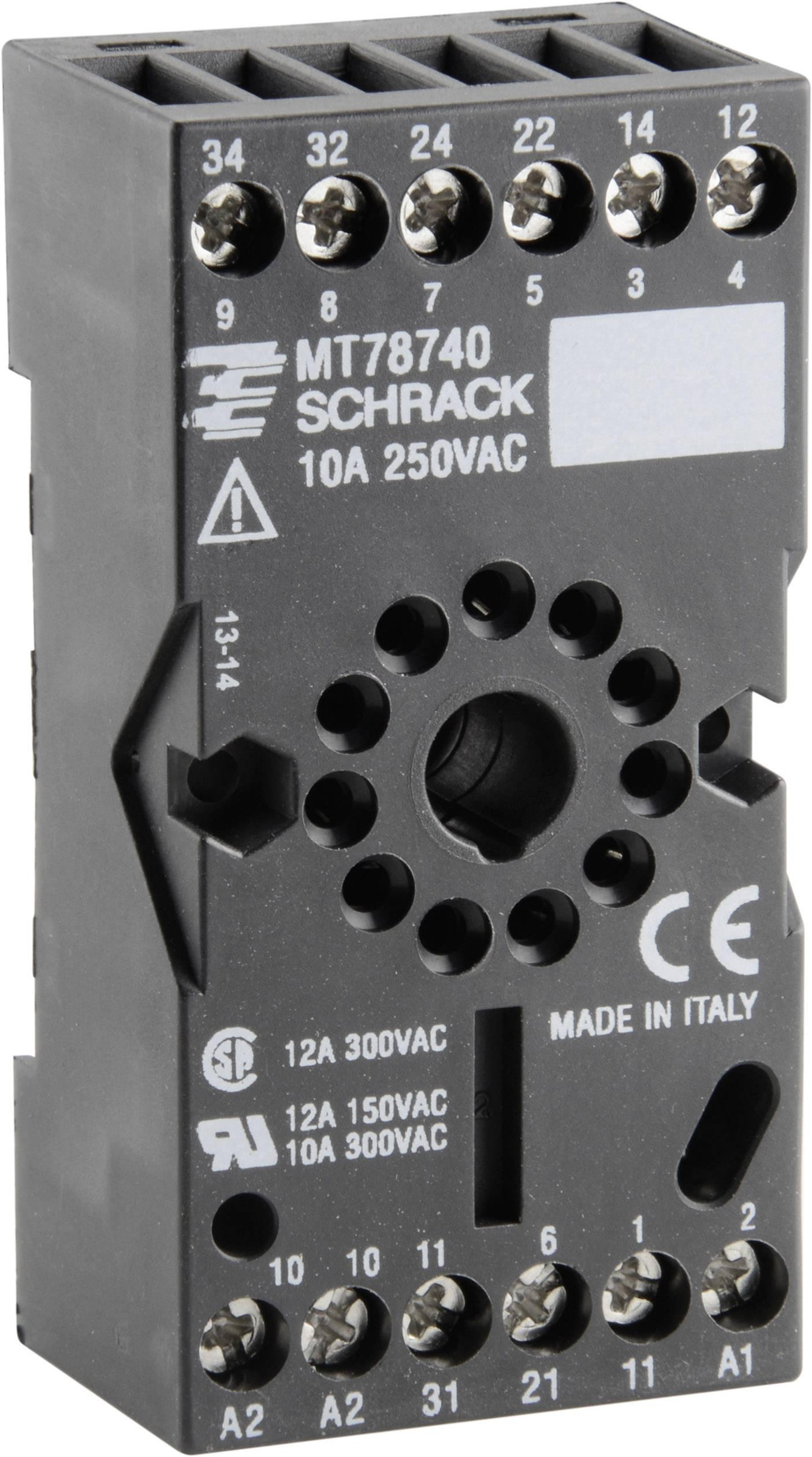 Příslušenství pro relé svíce módy MT TE Connectivity 8-1393163-3, MT78740 = ES 12