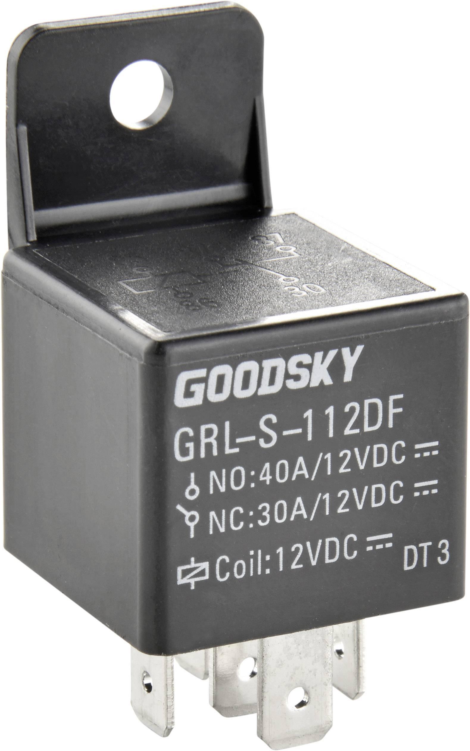 Automobilové relé Goodsky GRL-S-124DF, 24 V, 75 mA, 1x přepínací kontakt s LED
