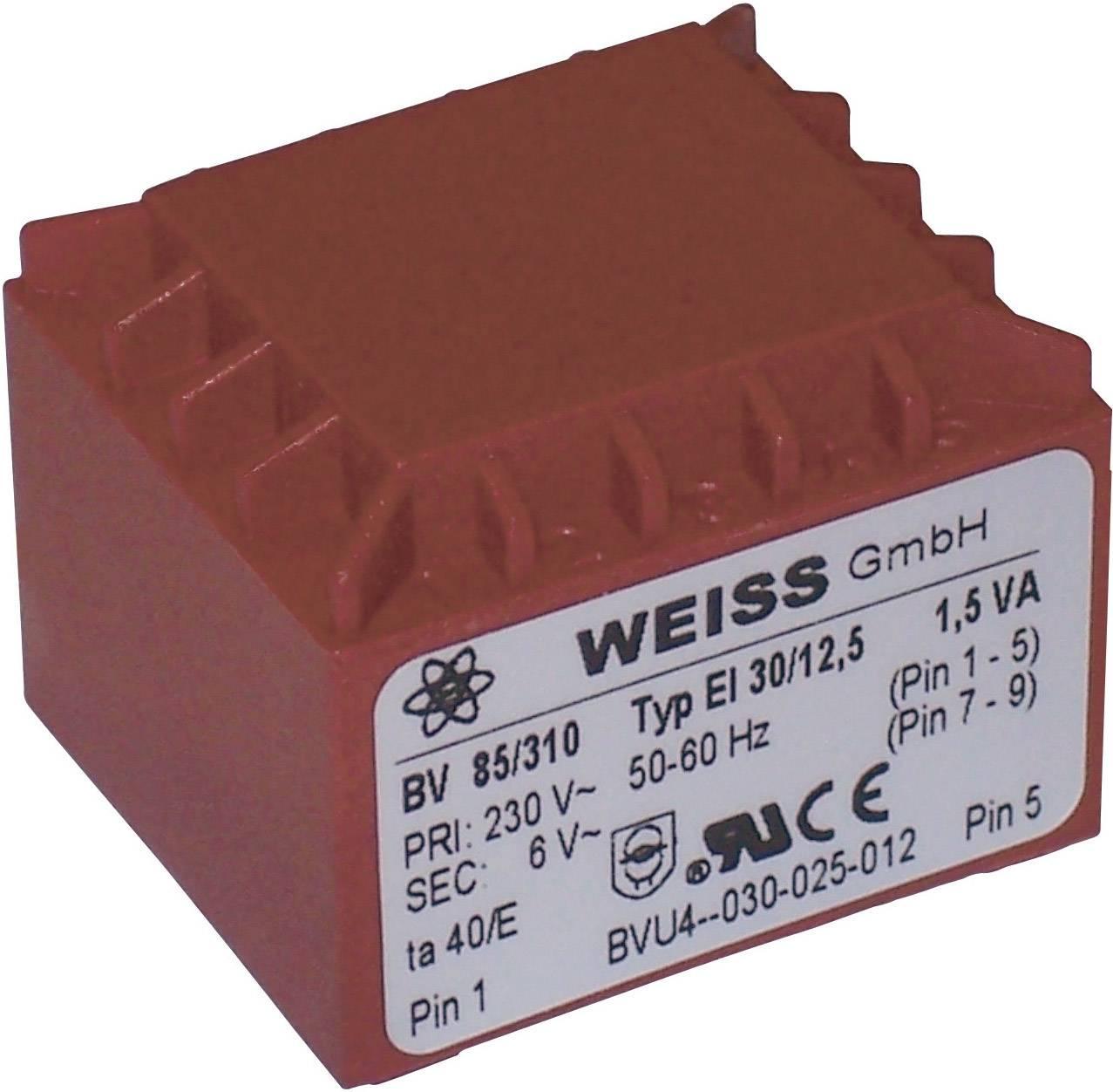 Transformátor do DPS Weiss Elektrotechnik 85/318, 1.50 VA