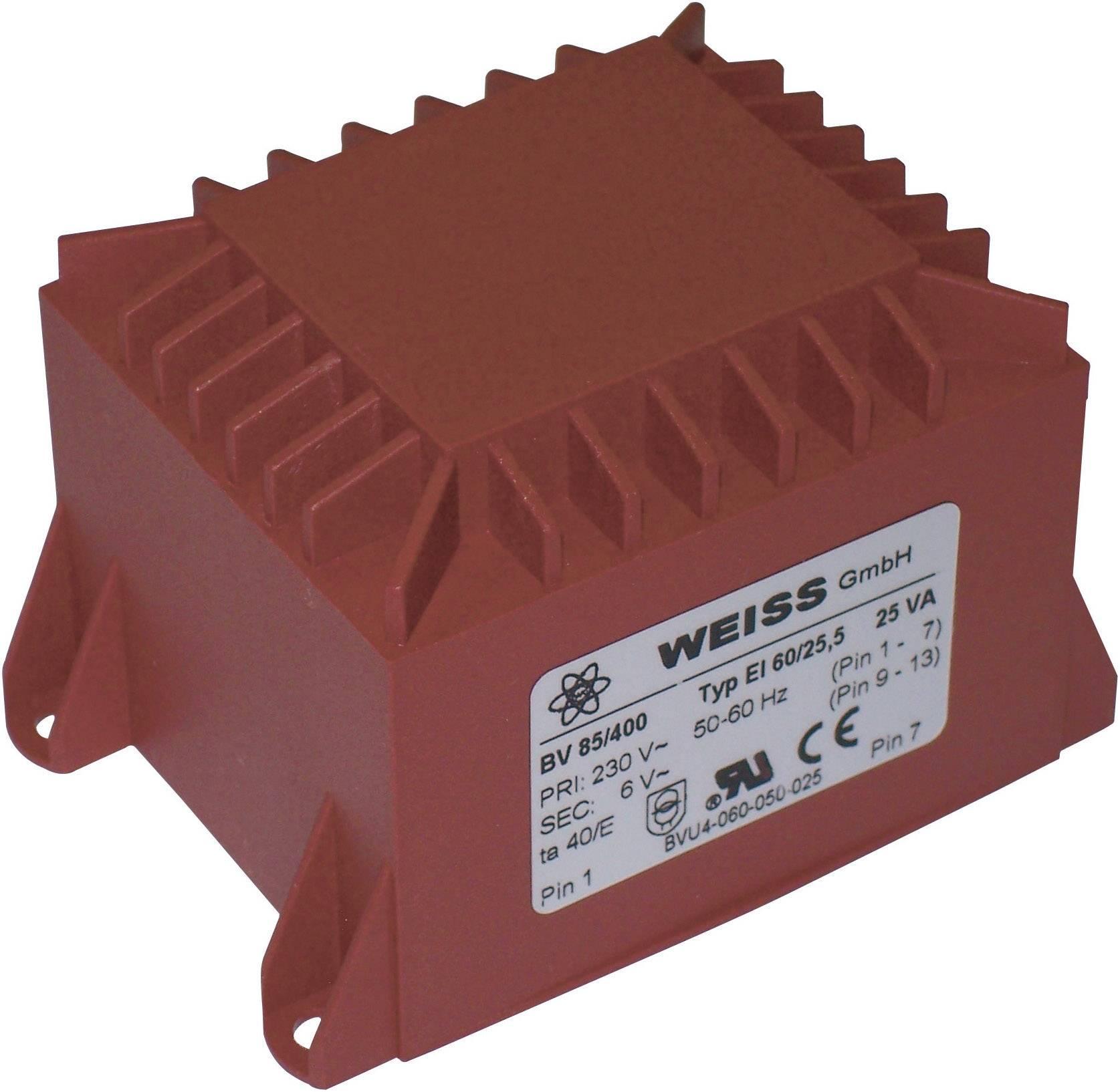 Transformátor do DPS Weiss Elektrotechnik 85/402, 25 VA