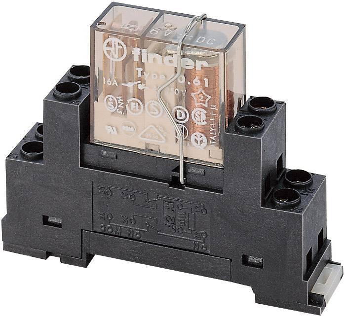 Patice pro lištu DIN s kovovým třmenem Finder 95.65M, 63,1 x 33,3 mm