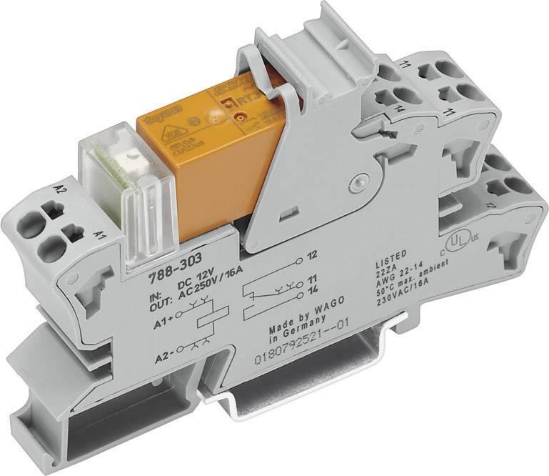 Patice s malým spínacím relé WAGO 788-512, 24 V/AC, 8 A, 2 přepínací kontakty