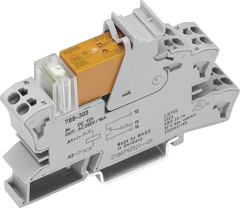 Zásuvná patice pro relé WAGO 788-304, 15 mm, 54 mm