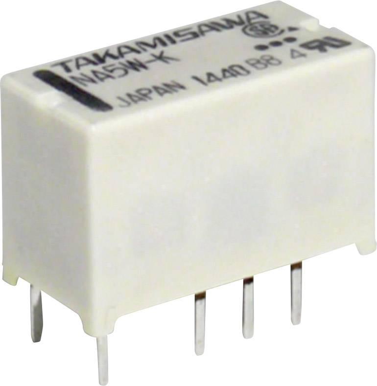 Relé do DPS Takamisawa NA5WK5V, 5 V/DC, 2 A, 2 prepínacie, 1 ks