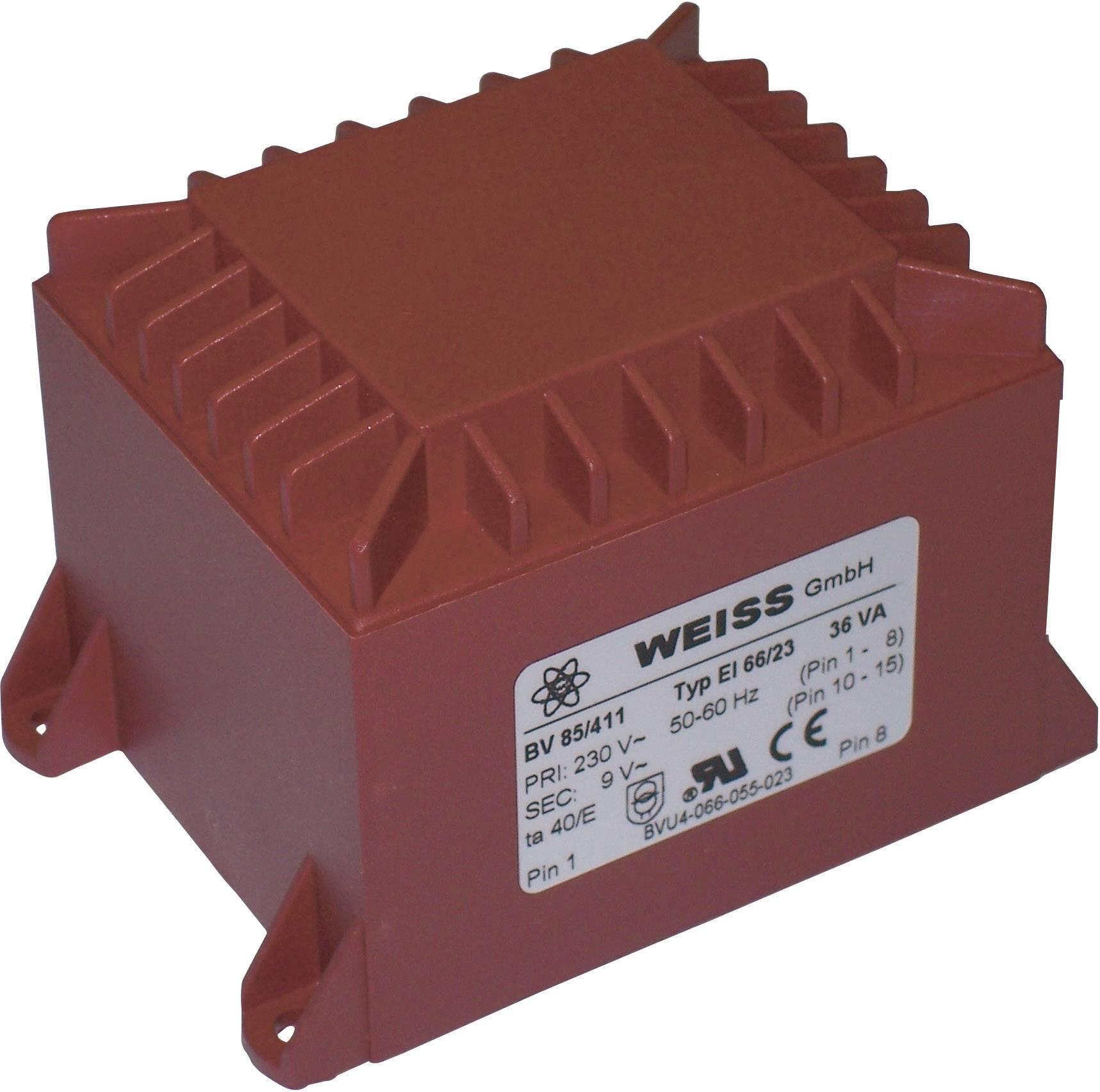 Transformátor do DPS Weiss Elektrotechnik 85/412, 36 VA