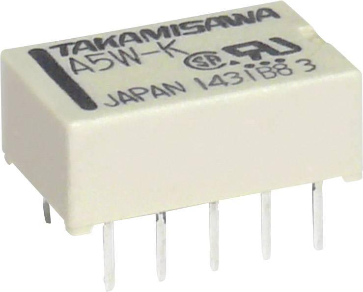 Subminiaturní ploché relé 5 V/DC 1 A Takamisawa 1 ks