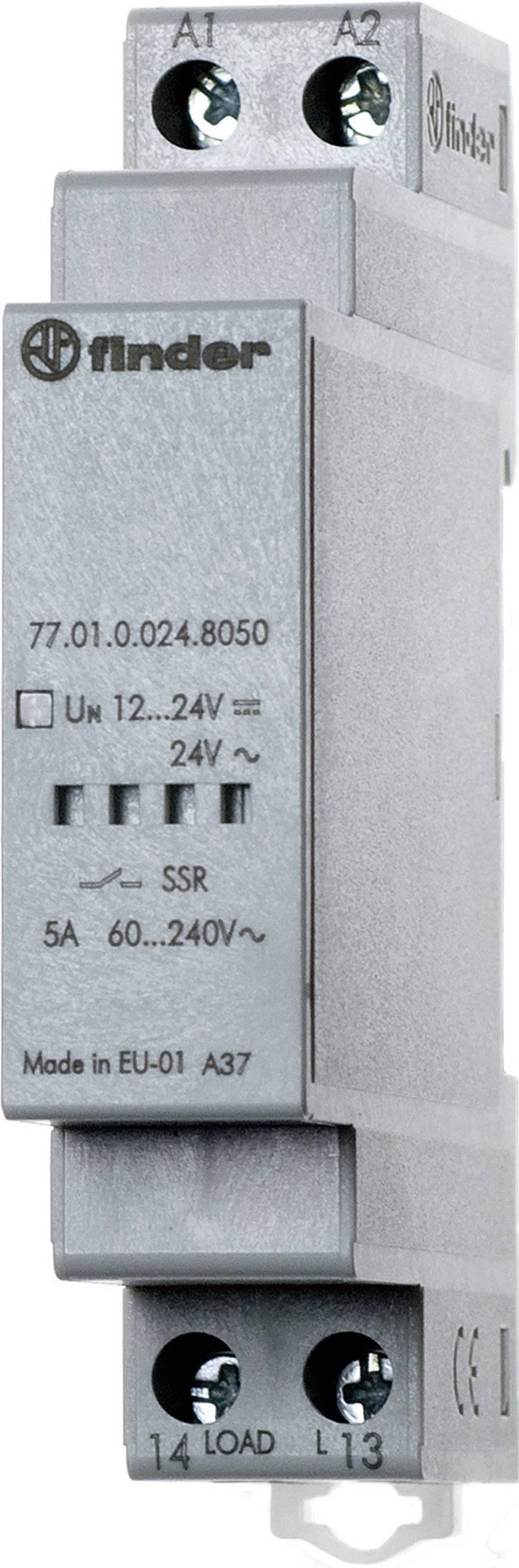 Polovodičové relé Finder 77.01.0.024.8050 77.01.0.024.8050, 5 A, 1 ks