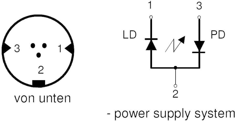 Laserová dioda, 1108000036, 650 nm, 3,5 mW