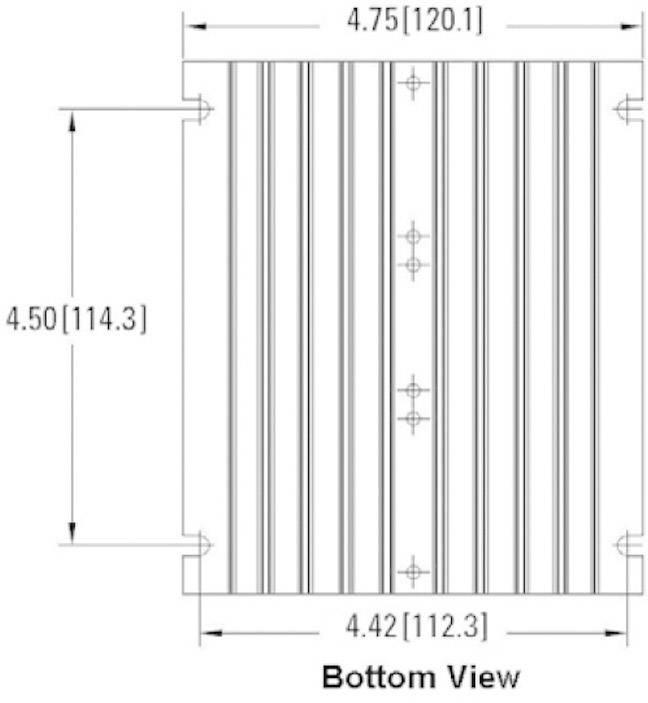 Chladič pro nadproudové relé Crydom HS072, 0.7 K/W