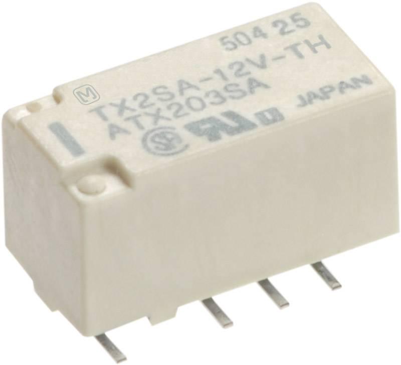 Signálové relé TX 2 A, 2x přep.kont., Print/SMD Panasonic TX2SA12 SMD, 140 mW, 2 A , 220 V 60 W