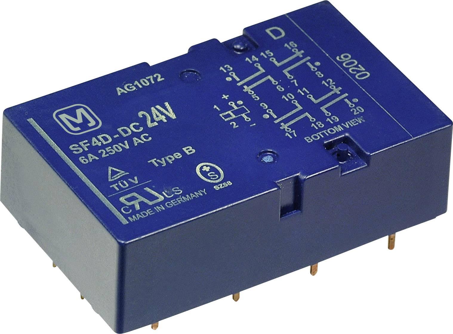 Jistící relé Panasonic SF4D24, 500 mW, 6 A , 440 V/DC/AC , 6 A/250 V/AC, 3 A/24 V/DC