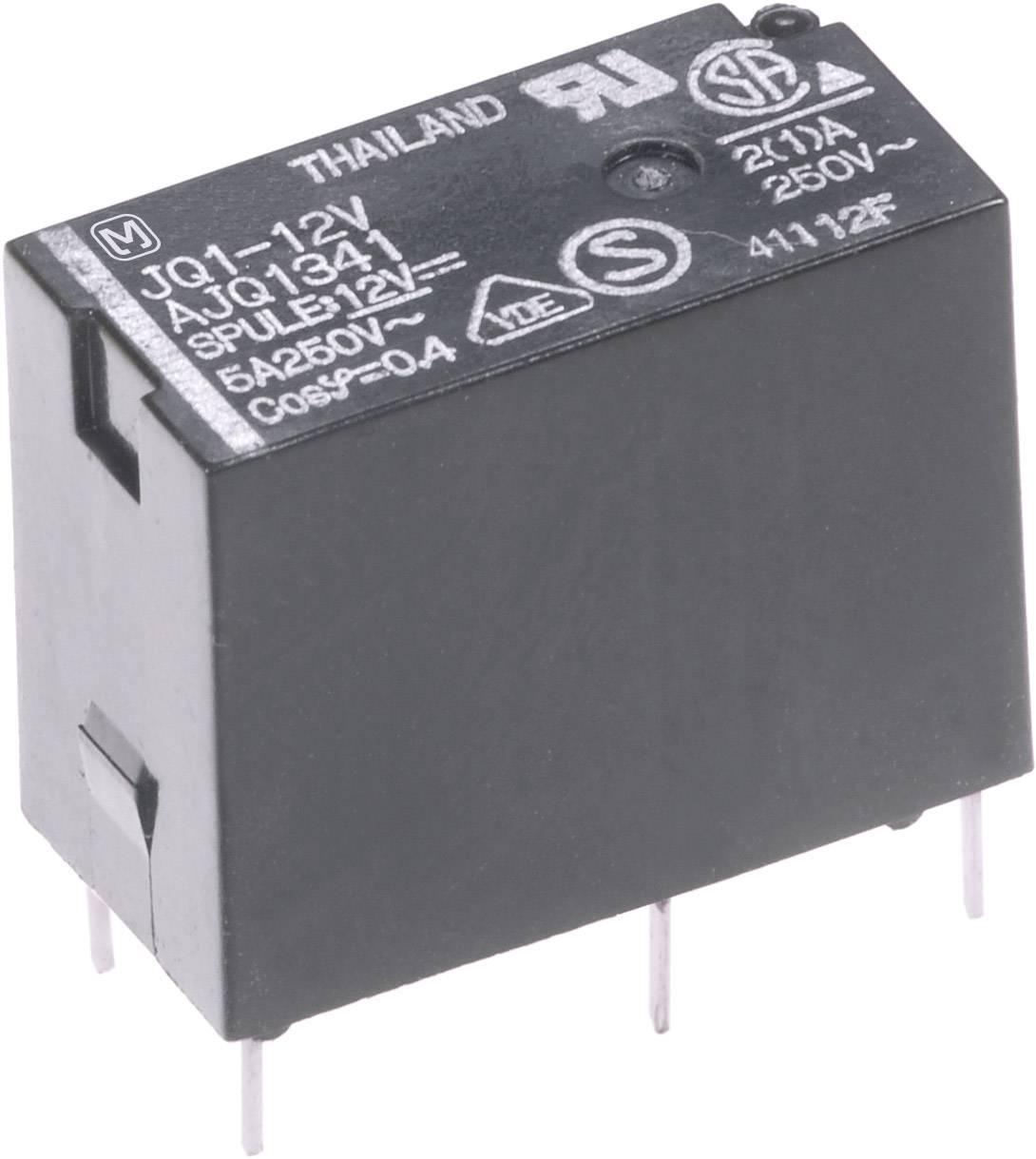 Výkonové relé JQ 5 A, Print Panasonic JQ1AB12F, JQ1AB12F, 200 mW, 5 A, 110 V/DC/250 V/AC 625 VA