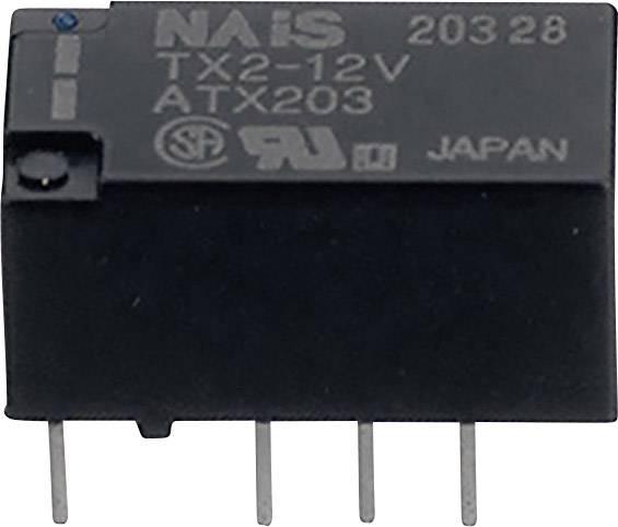Signálové relé TX 2 A, 2x přep.kont., Print/SMD Panasonic TX212 Print, 140 mW, 2 A , 220 V 60 W