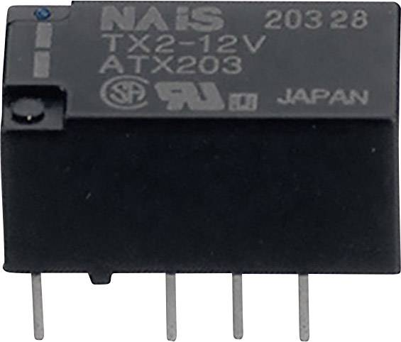 Signálové relé TX 2 A, 2x přep.kont., Print/SMD Panasonic TX2L25 Print, 200 mW, 2 A , 220 V 60 W