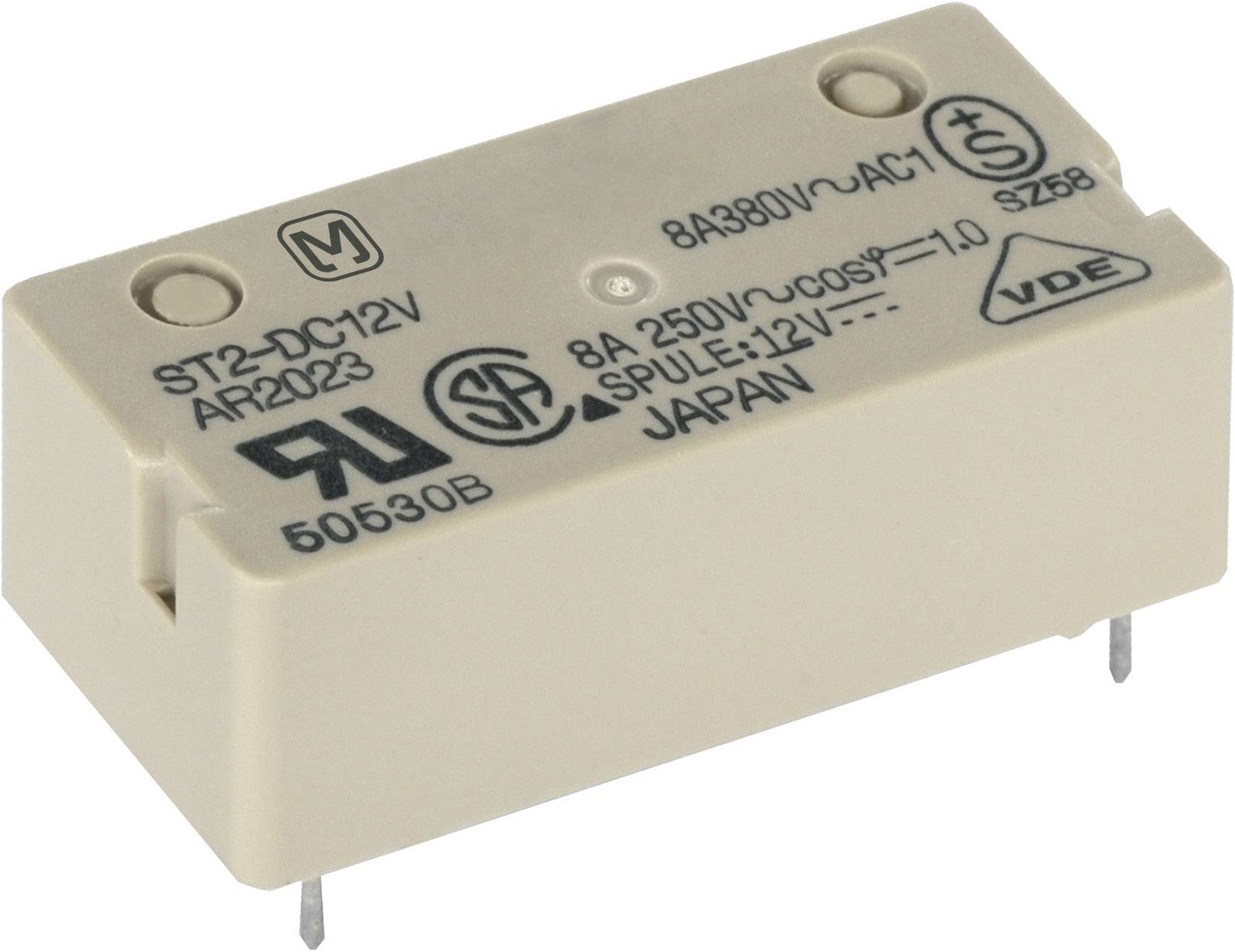 Výkonové relé ST 8 A, Print Panasonic ST212F, ST212F, 240 mW, 8 A , 250 V/DC/380 V/AC 2000 VA/150 W