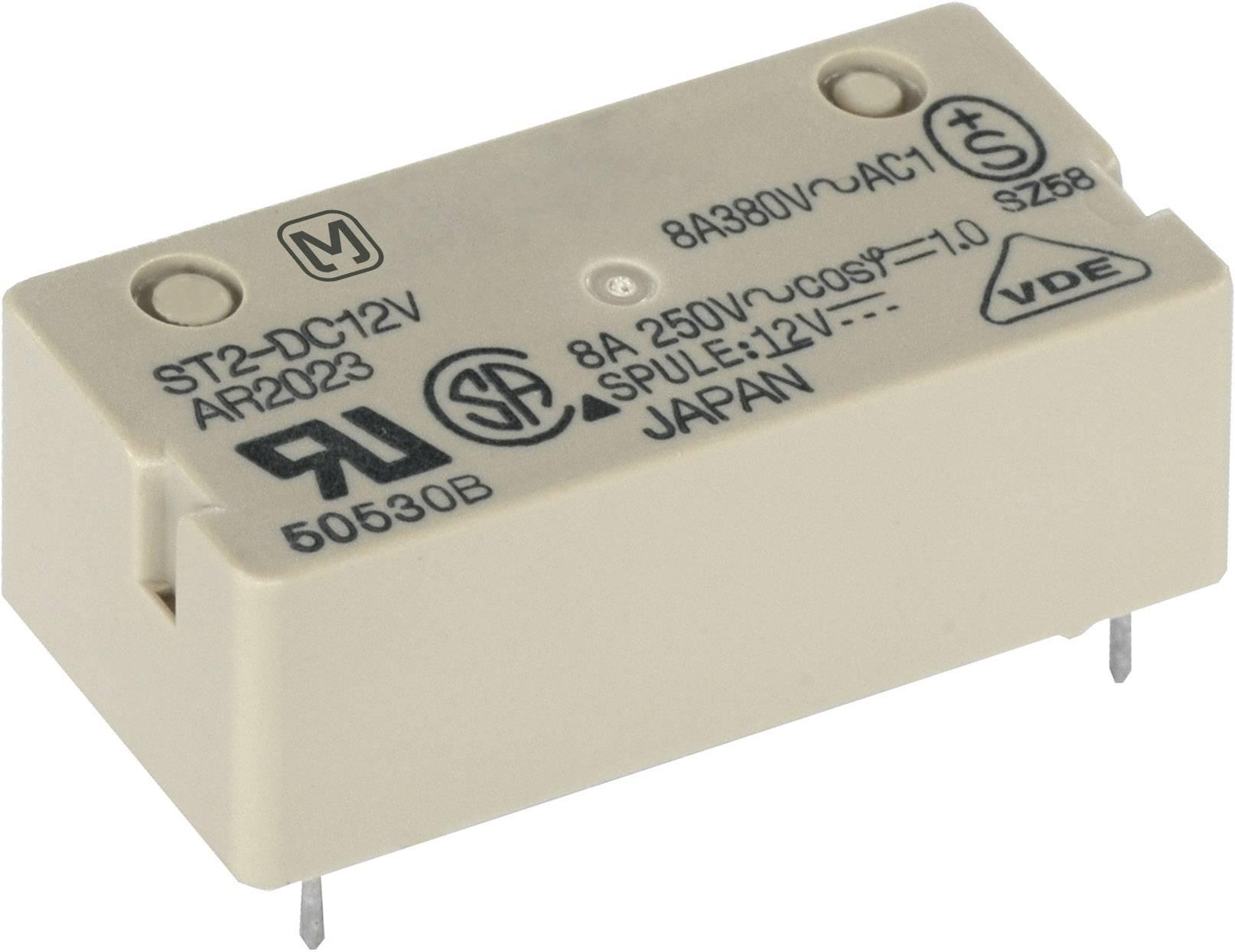 Výkonové relé ST 8 A, Print Panasonic ST224F, ST224F, 240 mW, 8 A , 250 V/DC/380 V/AC 2000 VA/150 W