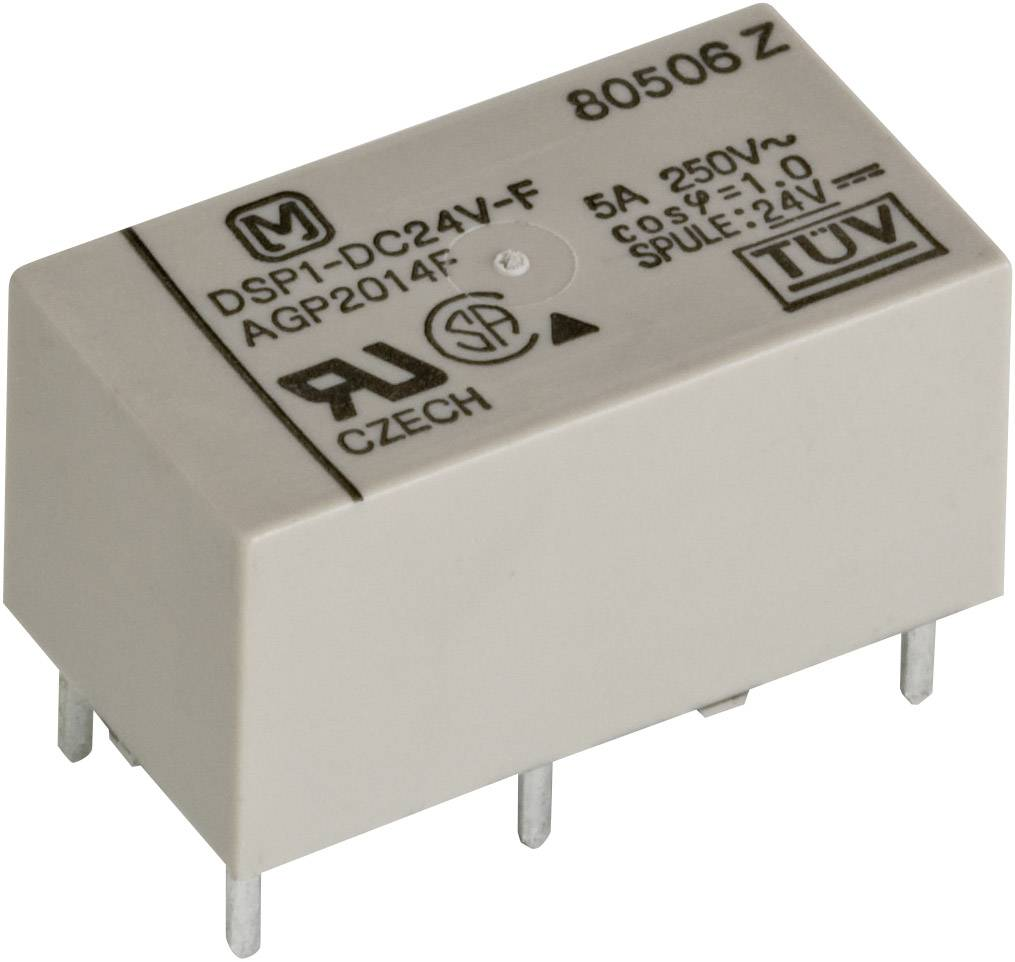 Relé do DPS Panasonic DSP112F, 12 V/DC, 5 A, 1 spínací, 1 rozpínací, 1 ks