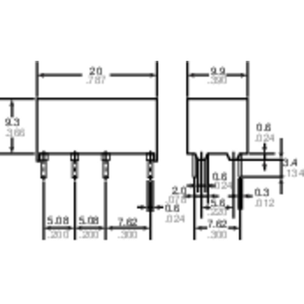 Signální relé DS2Y 2 A, 2x přep.kont., Print Panasonic