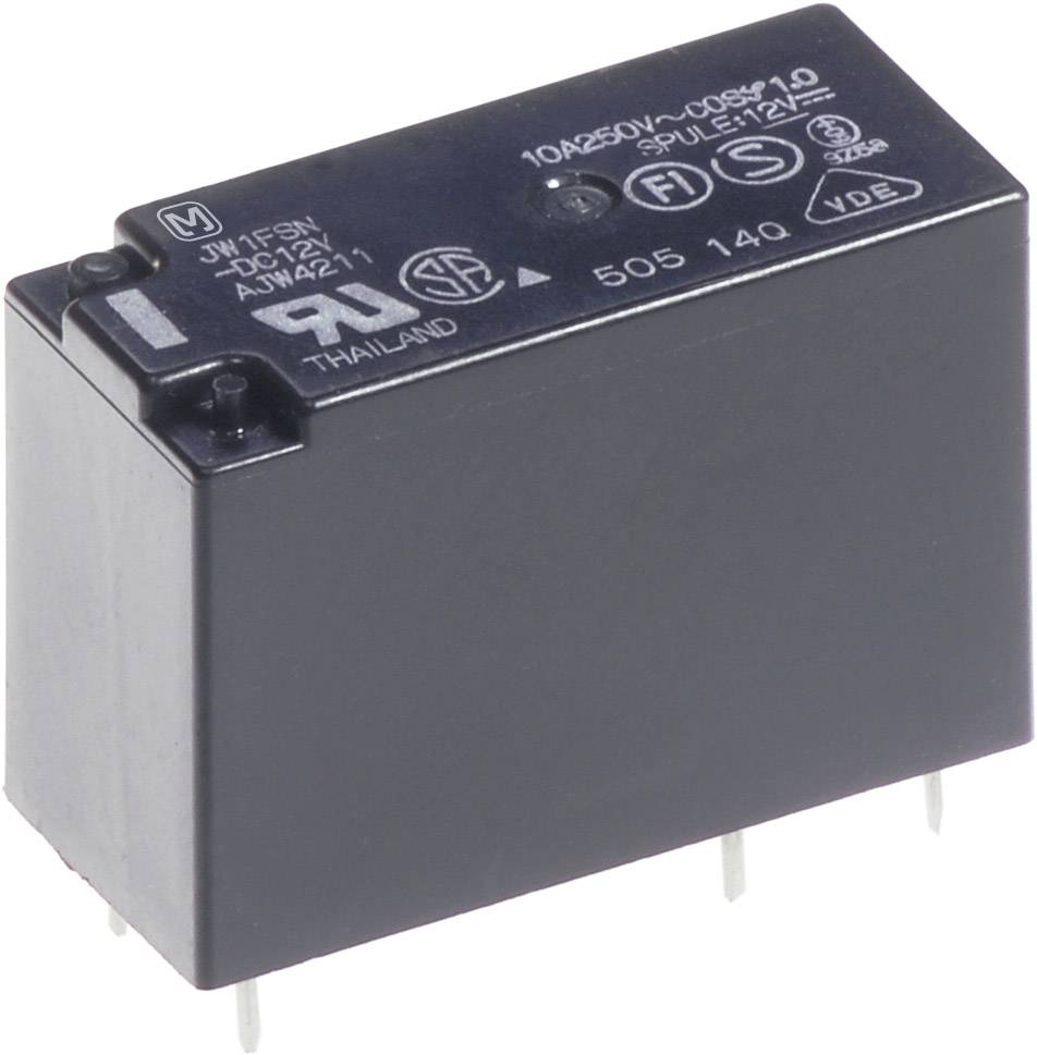 Výkonové relé JW 10 A, Print Panasonic JW1FSN12, JW1FSN12, 530 mW, 10 A , 30 V/DC/250 V/AC , 2500 VA/300 W